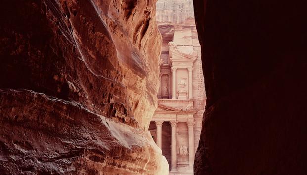 Petra Temple and Rocks Jordan