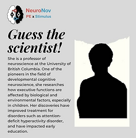 Our instagram post where we play a game with our users to guess the name of the scientist by the provided description brain science cognitive science neuroscience