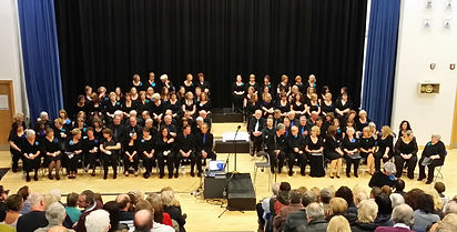 About to sing in the Sheffield End of Season concert, Sheffield Springs Academy