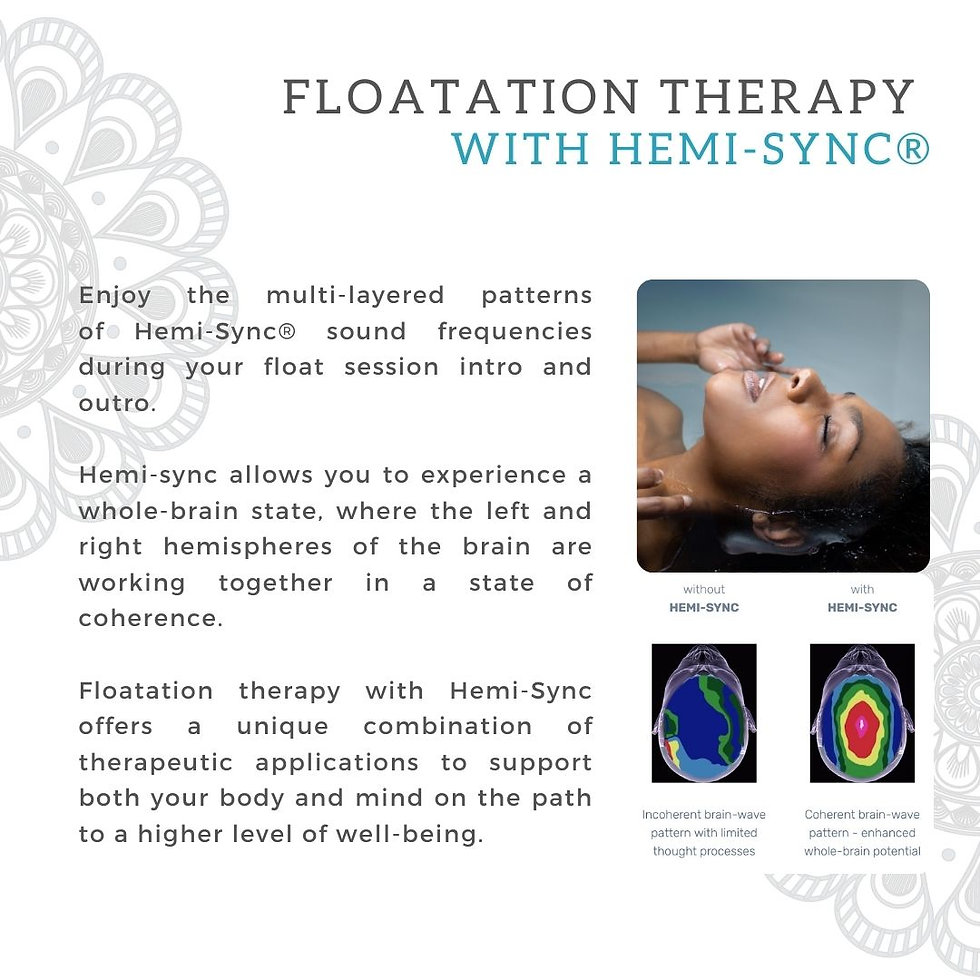 Floatation Therapy with Hemi-Sync® IG.jp