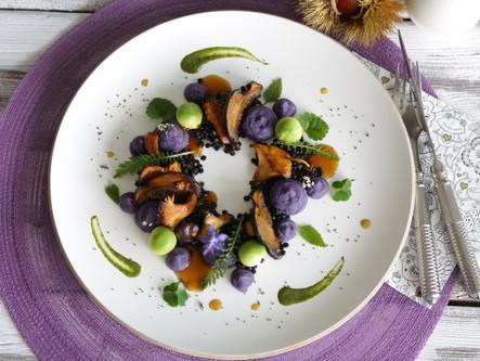 Pilz Ragout mit Kartoffeln und Linsen