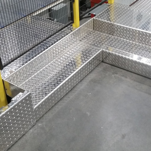 Diamond Plate Stair Section