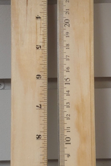 Acme Wooden Ruler With Metal Edge