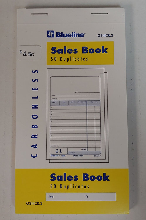 Blueline Sales Book 50 Duplicates