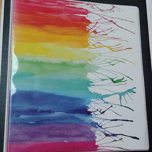 "1"" Avery Paint Splatter Binder"