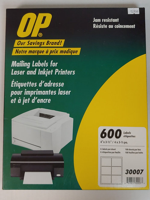 OP Mailing Labels for Laser and Inkjet Printers