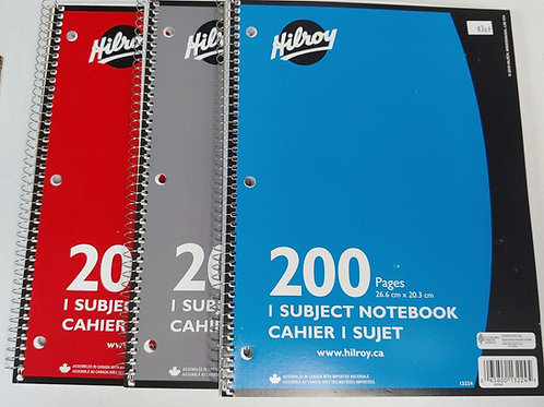Hilroy 200 Pages Coiled Notebook