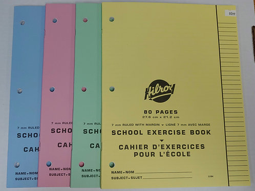 Hilroy 80 Page Lined Exercise Book