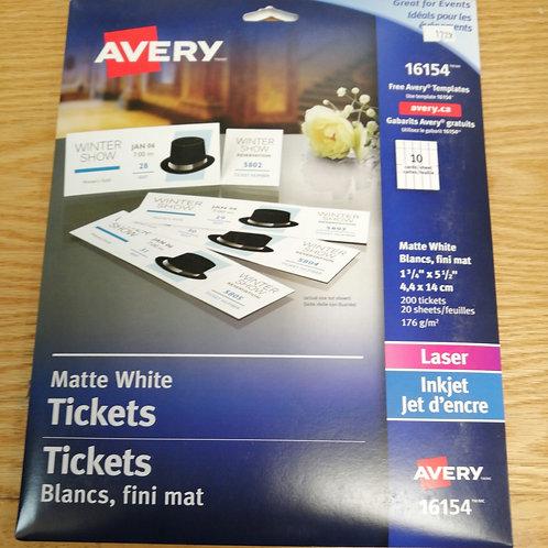 Matte White Tickets