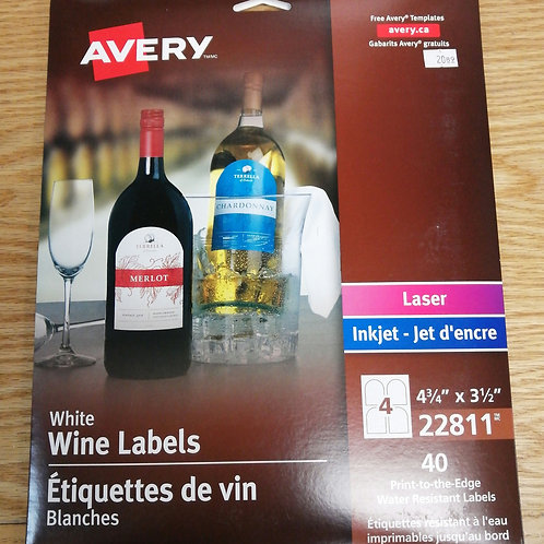 White wine labels