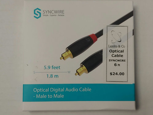 Syncwire Optical Digital Audio Cable Male to Male 6ft