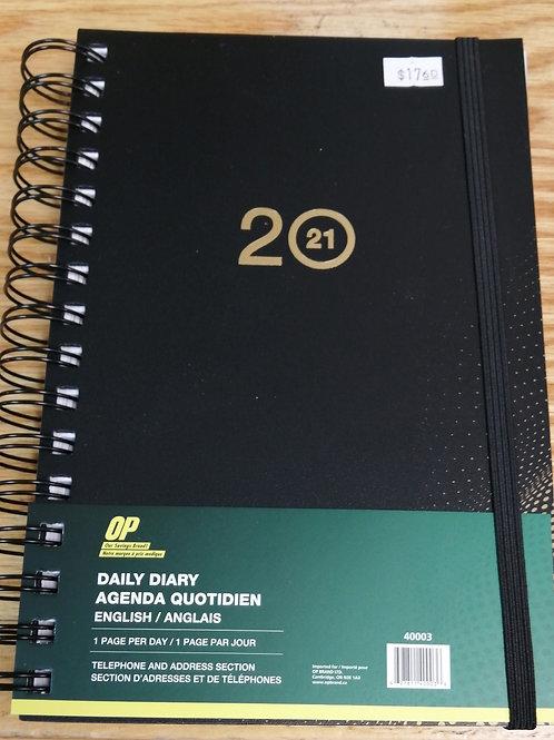 Daily diary/agenda