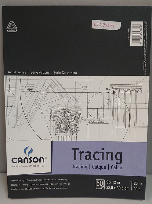 """Canson Tracing Paper 50 Sheets 9"""" x 12"""""""