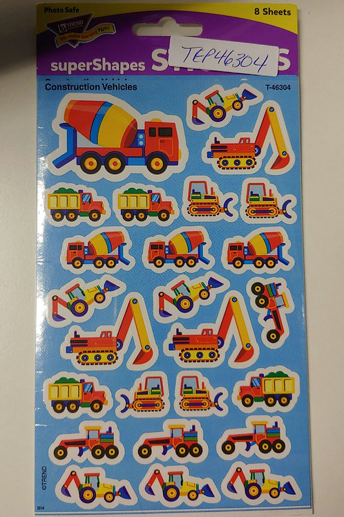 SuperShots Construction Vehicles Stickers
