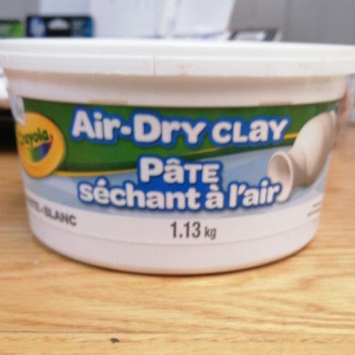 White air dry clay