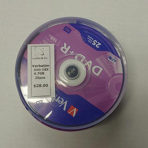 Verbatim DVD-16x 4.7gb 25 Disks