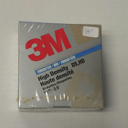 3M High Density DS,HD 10 Diskettes