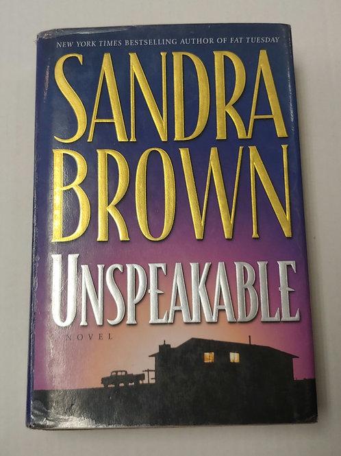 Unspeakable- Sandra Brown