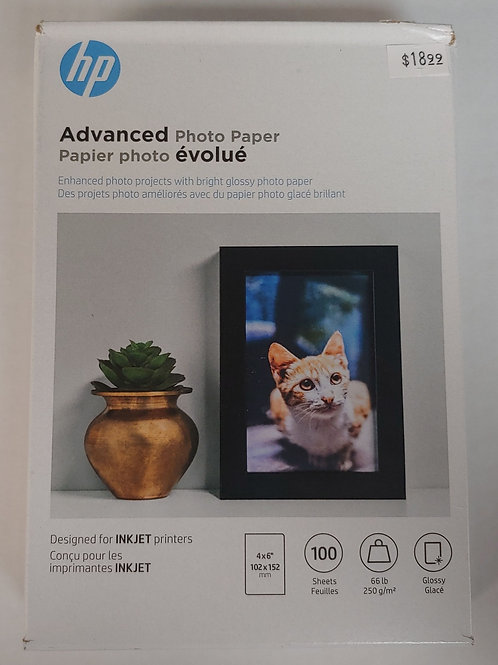 "HP Advanced Photo Paper 4"" x 6"""
