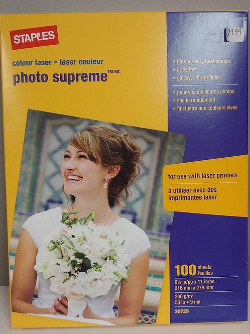 Staples Photo Supreme Laser Printer Paper