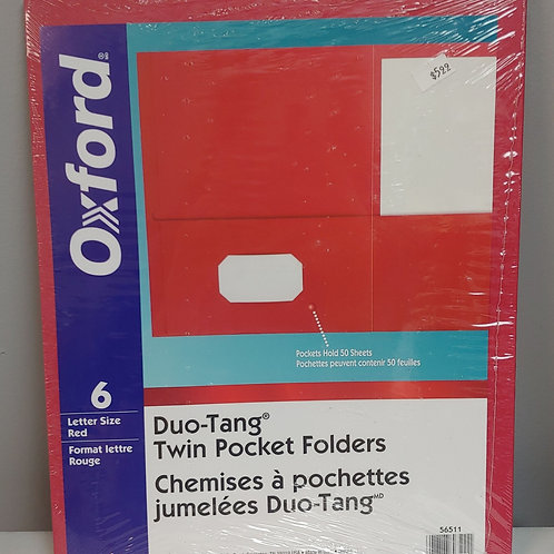 Oxford 6 Duo-tang Twin Pocket Folders