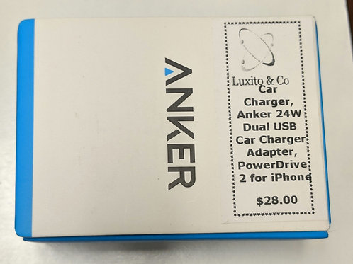 Anker Car Charger 24W Dual USB Adapter