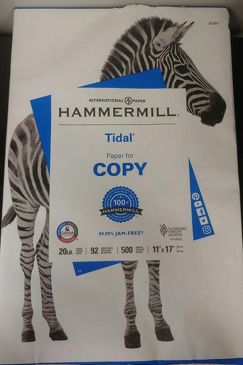 "Hammermill 20lb 92 Bright 11"" x 17"" Paper"