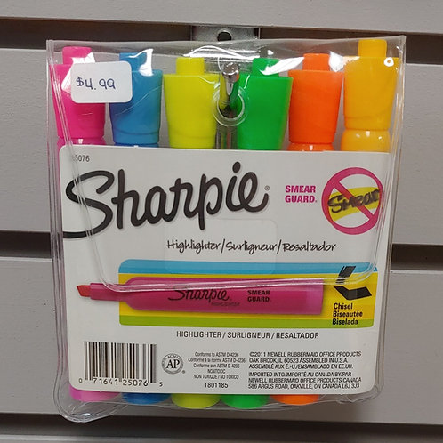 Sharpie Smear Guard Highlighter 6 Pack