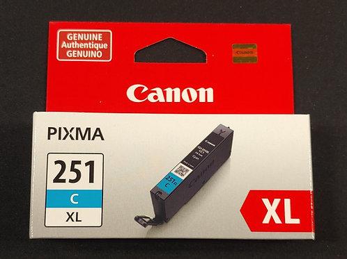 Canon Pixma 251xl Cyan Ink