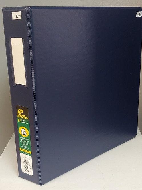 """OP 1½"""" 3 Ring Binder 350 Sheet Capacity"""