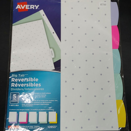 Avery Big Tab Reversible Binder Dividers