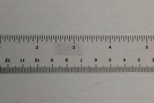 "Clear 6"" Plastic Ruler"
