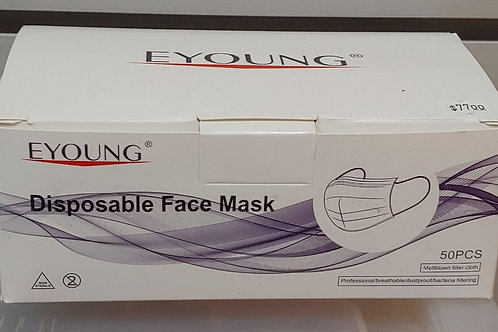 Eyoung Disposable Face Mask Meltblown Filter Cloth 50 Piece