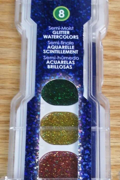 Glitter washable watercolor