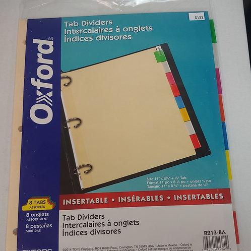 "Oxford Tab Dividers 11"" x 8½"""