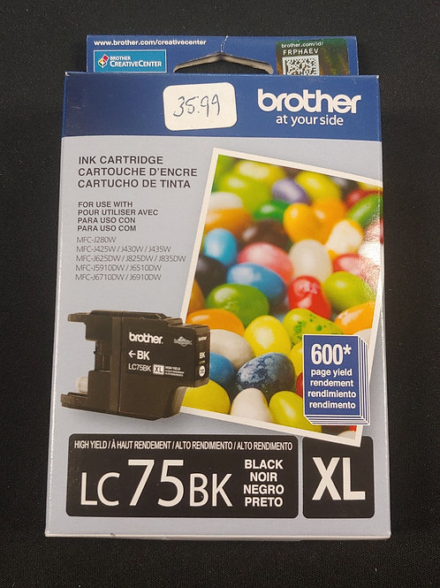 Brother LC75BK XL Ink