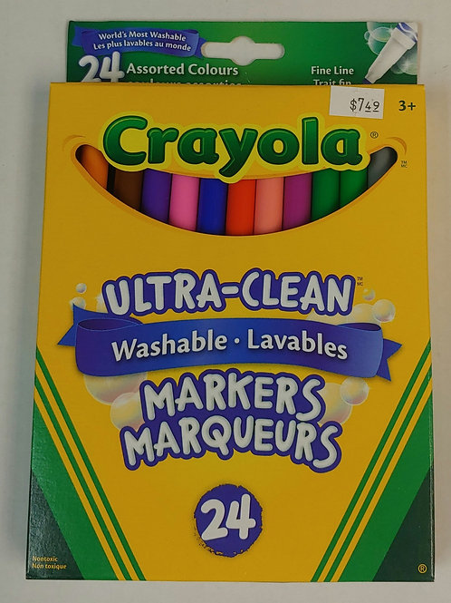 Crayola Fine Tip Markers 24 Pack