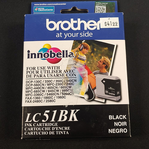 Brother LC51BK Ink