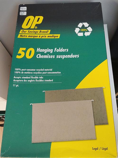 OP 50 Legal Size Hanging Folders