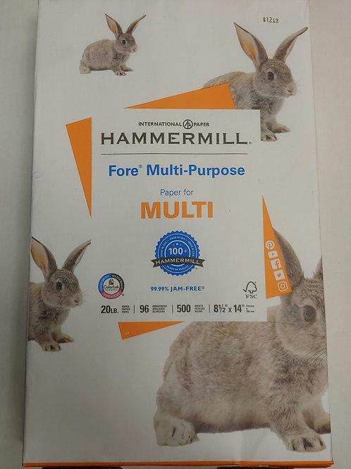 """Hammermill Multi-Purpose 8½"""" x 11"""" 20lb 96 Bright Paper"""