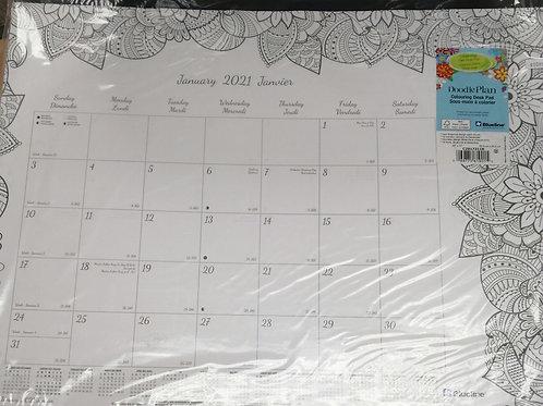 Doodle plan calendar large