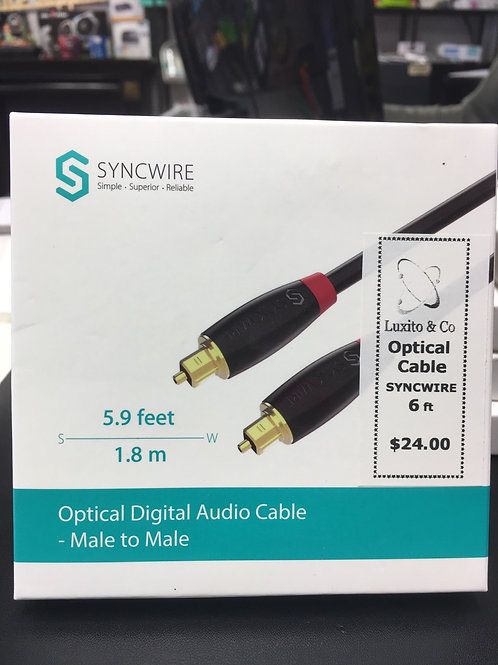 Optical Digital Audio Cable - Male  to Male - 6ft