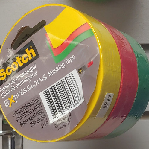 Scotch Expressions Masking Tape 3 rolls