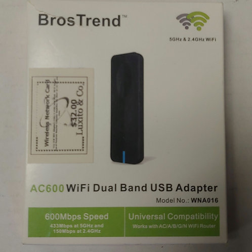 BrosTrend AC600 WiFi Dual Band USB Adapter