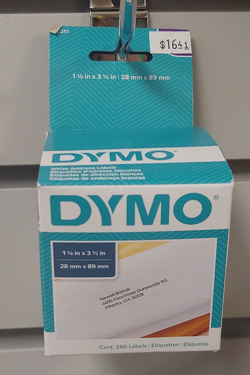 Dymo White Address Labels 1⅛in x 3 ½in