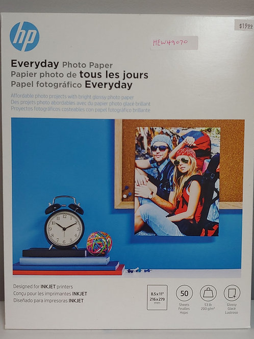 "HP Everyday Photo Paper 8½"" x 11"""