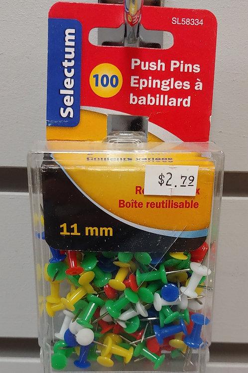 Selecting 100 Push Pins 11mm