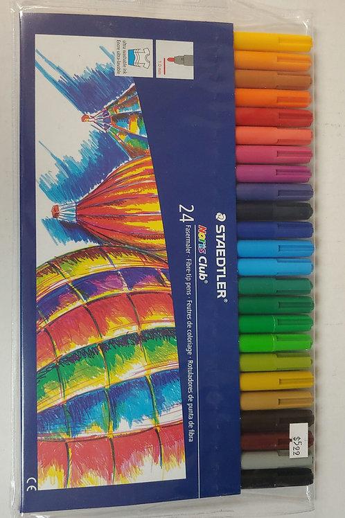 Staedtler 24 Fasermaler Fibre-Tip Pens