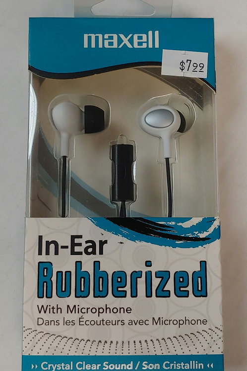 Maxwell Rubberized Earbuds with Microphone