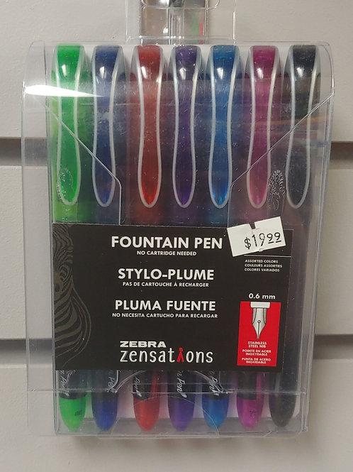 Zebra Zensations Fountain Pen 0.6mm 7 Pack